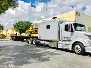 Semi-truck-transport-of-TigerCat