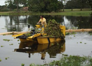 Weedoo Lake Weed Harvester