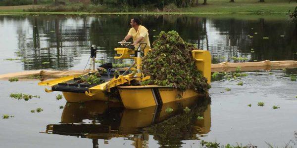 Weedoo Lake Weed Harvester