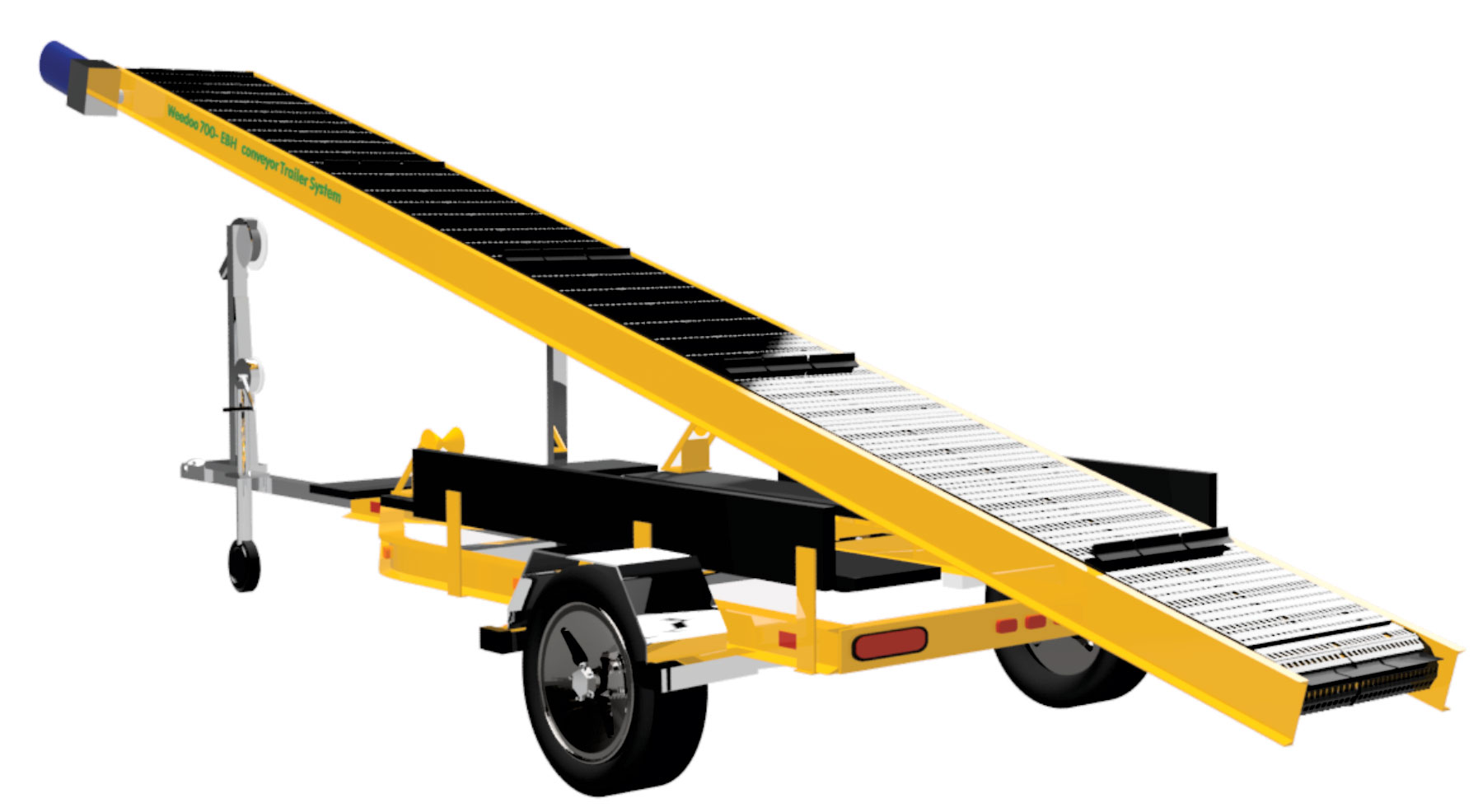 Battery weed conveyors