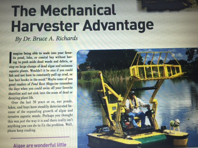 Pond Boss Magazine Sept/Oct 2015 issue features article with Weedoo.