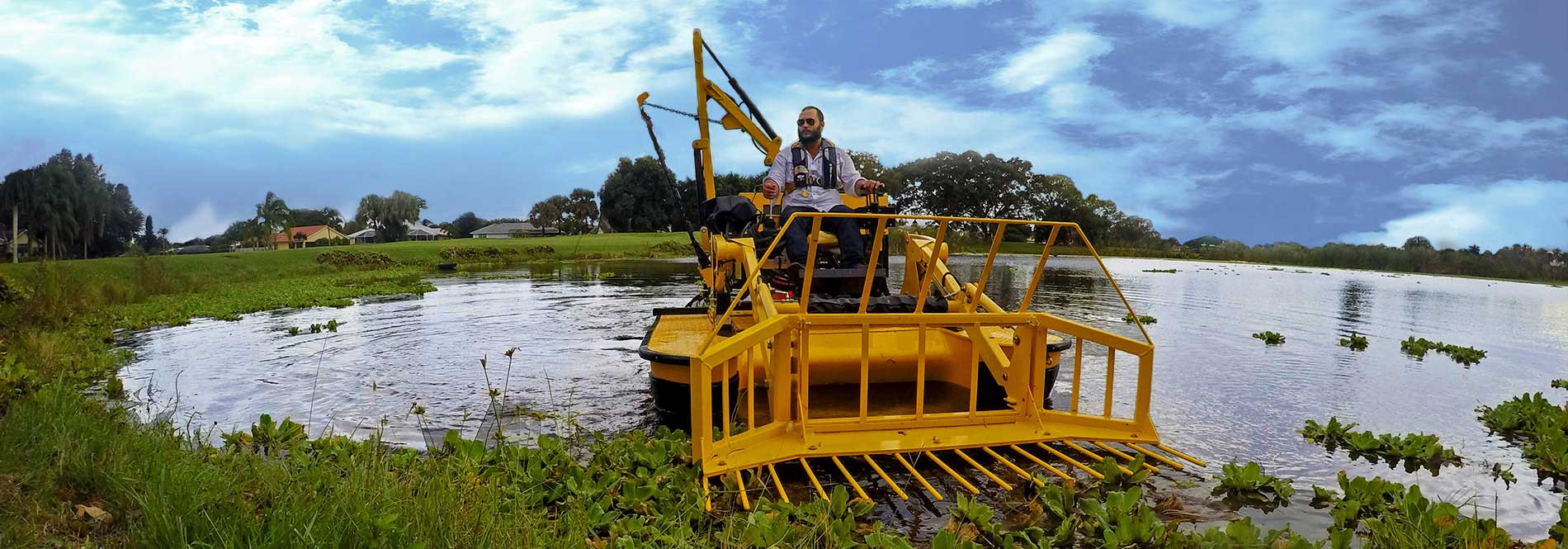 TigerCat aquatic weed removal harvesters