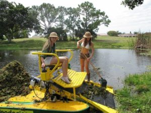 girls on a AquaHarvester