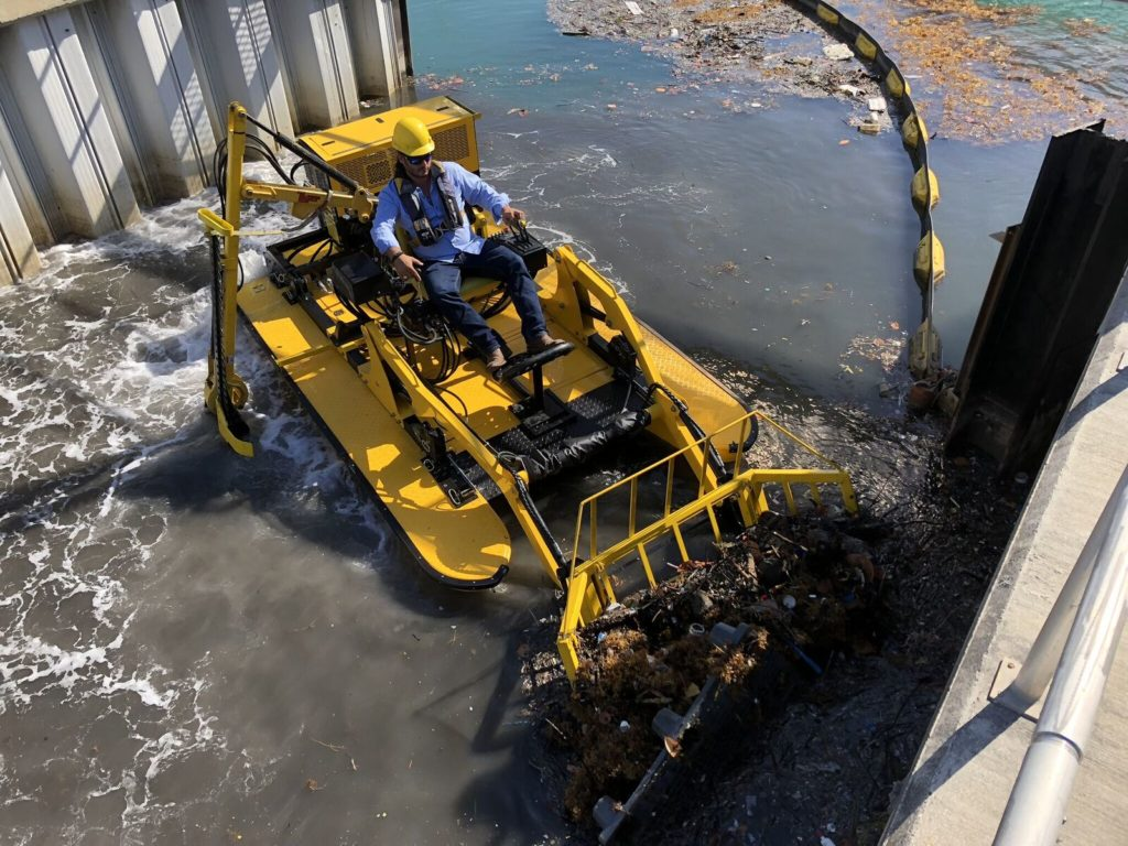 Power plant waterway cleanup